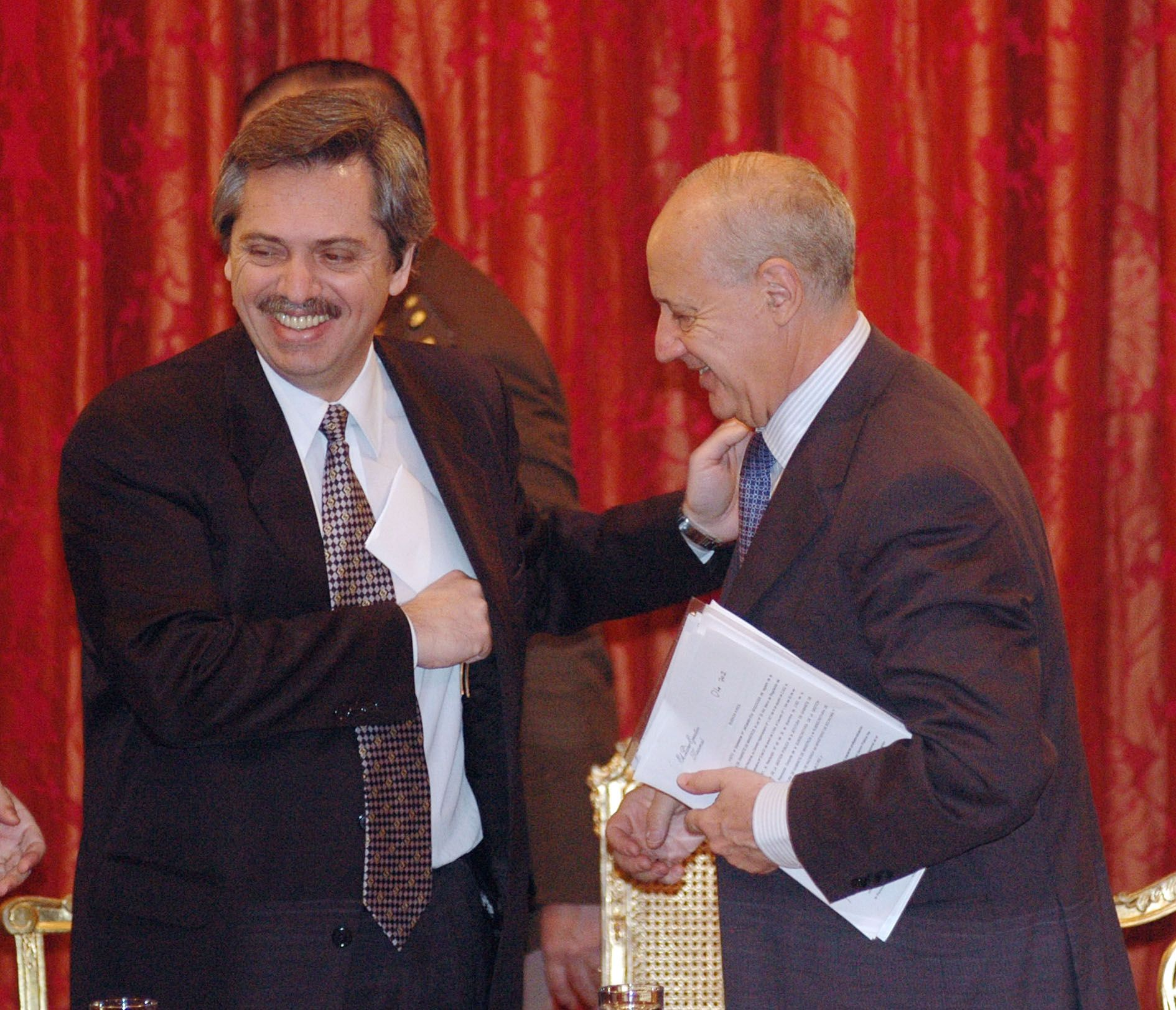 Alberto Fernández con Roberto Lavagna