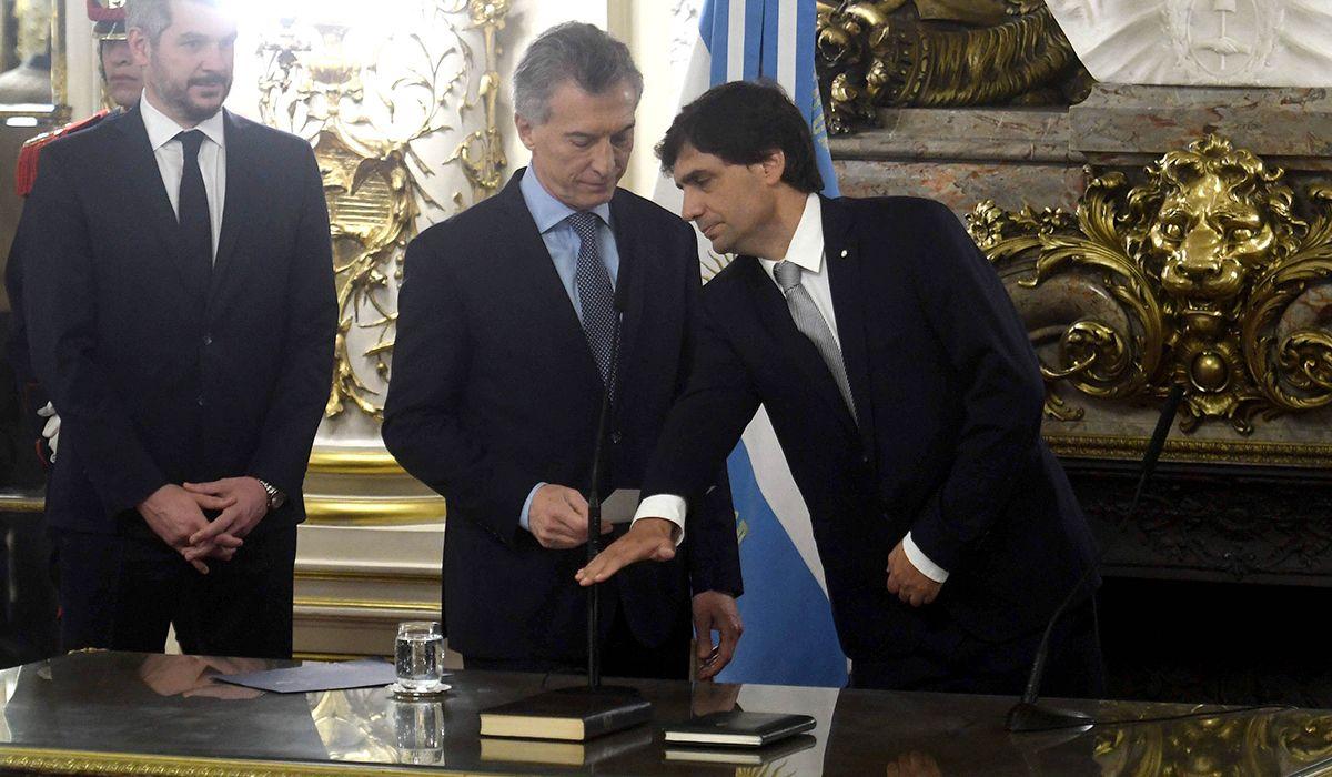 Lacunza juró como ministro de Hacienda