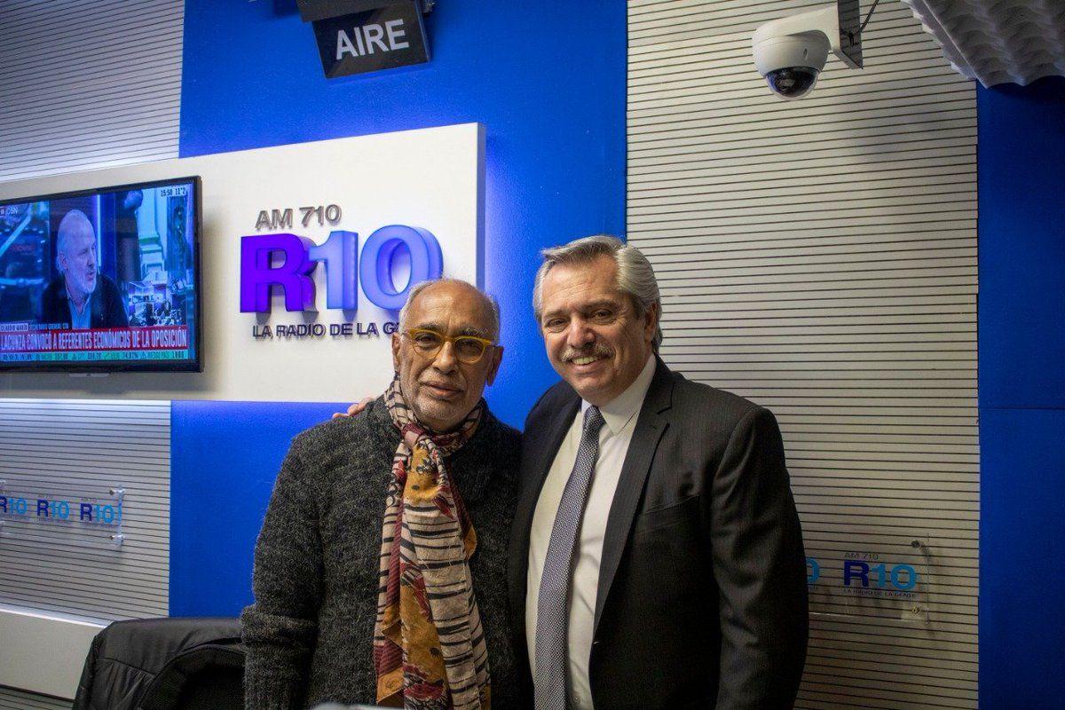 Oscar González Oro y Alberto Fernández en Radio 10