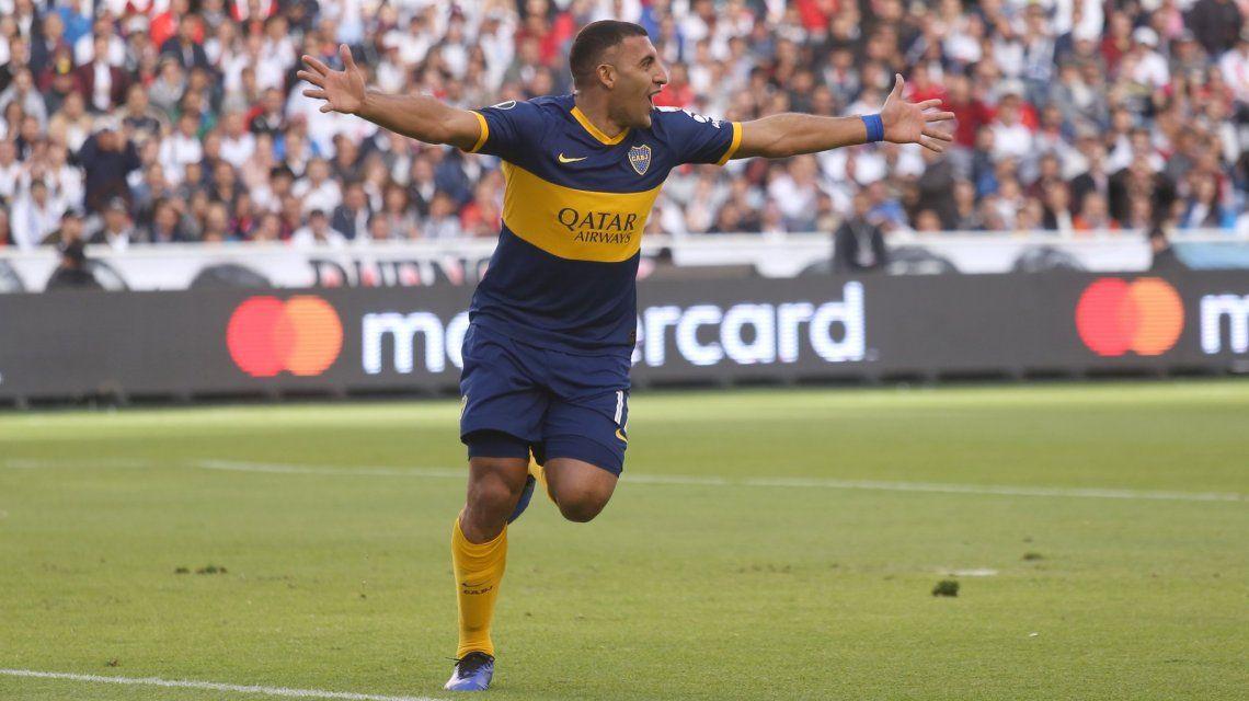 Wanchope Ábila marcó el 1 a 0 ante Liga de Quito