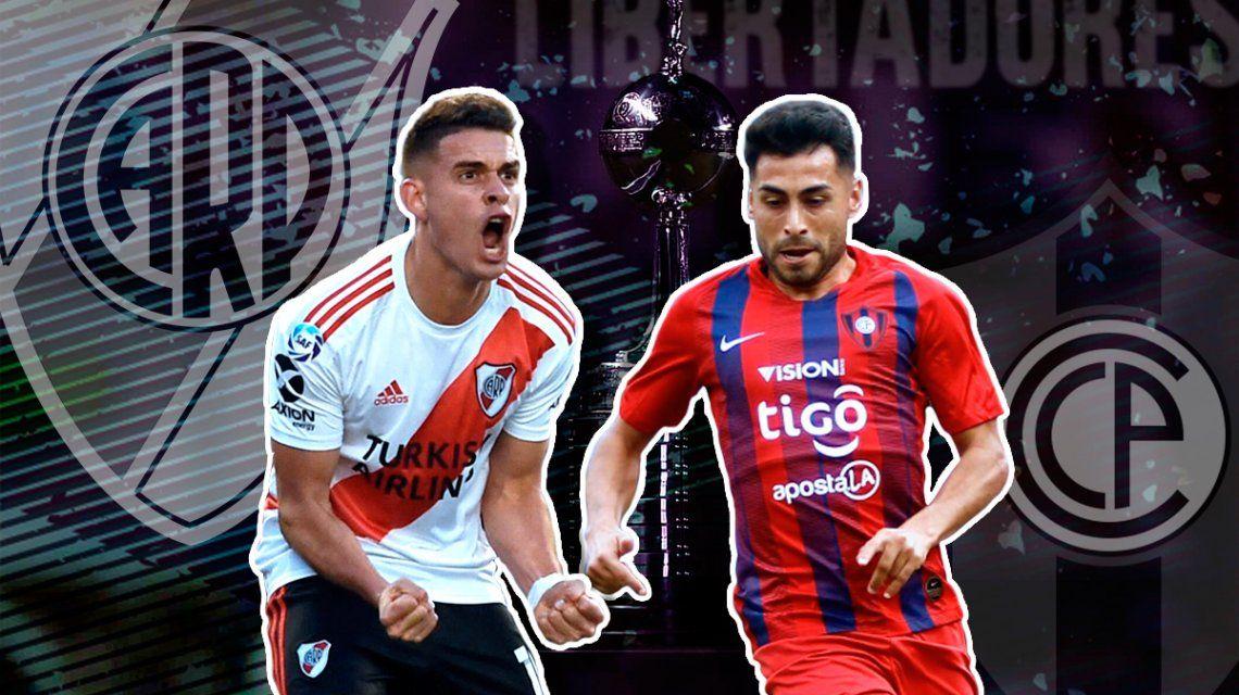 River vs Cerro Porteño por la ida de los cuartos de final de la Copa Libertadores: horario, formaciones y TV
