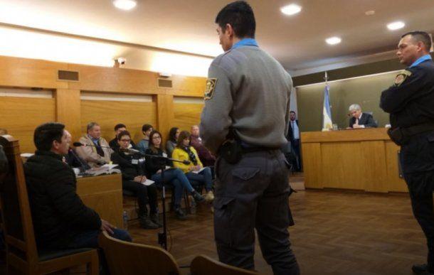 Fabian Casiva frente al tribunal