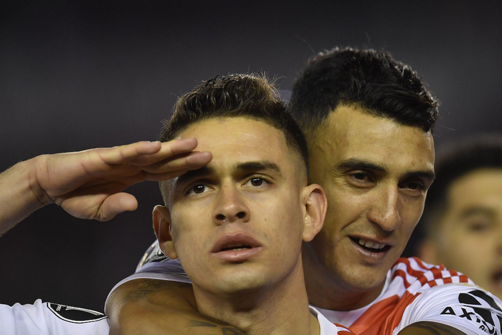 Con dos goles de penal, River le ganó a Cerro Porteño en la ida de los cuartos de final de Copa Libertadores