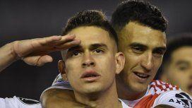 Con dos goles de penal, River le ganó a Cerro Porteño y sueña con el choque con Boca