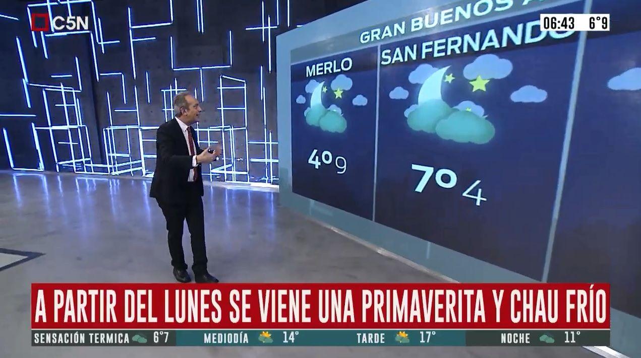 Pronóstico del tiempo del 23 de agosto de 2019