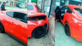 El auto quedó destrozado