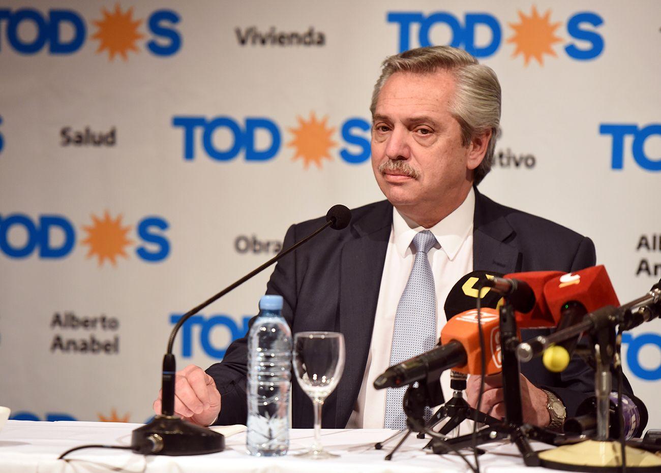 Alberto Fernández en Mendoza: A cada provincia le tiene que tocar lo que le corresponde