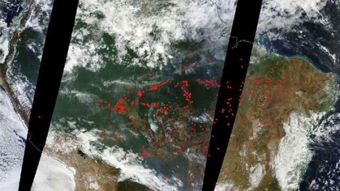 En vivo: el mapa del catastrófico incendio en el Amazonas