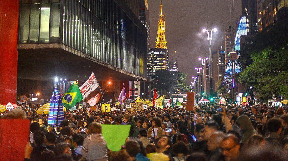 Manifestación en la Avenida Paulista. Foto: Paulo Pinto / PhotosPublics