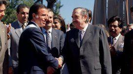 Carlos Menem y Raúl Alfonsín durante la Convención Constituyente de 1994