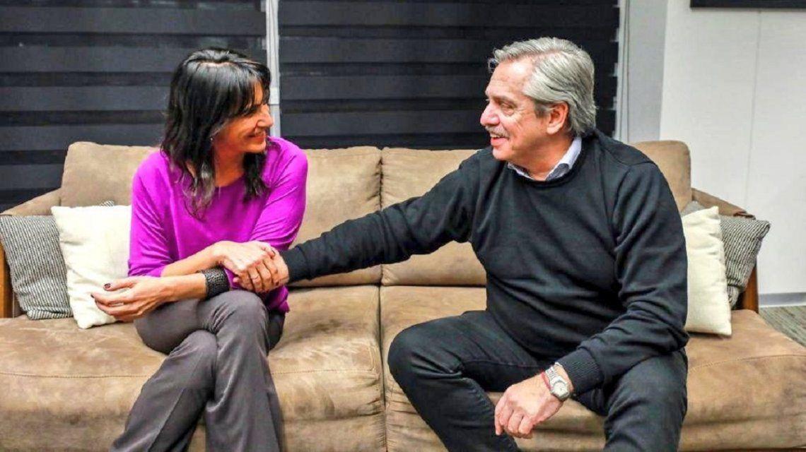 Natalia de la Sota y Alberto Fernández