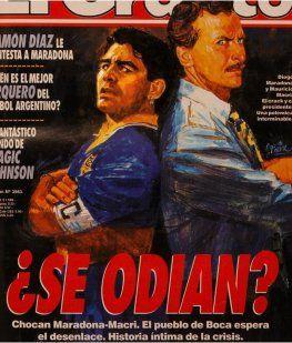 Diego Maradona y Mauricio Macri
