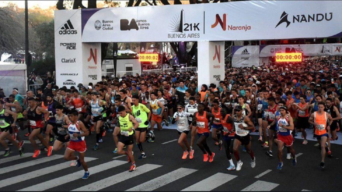 El mapa con los cortes por la media maratón de Buenos Aires
