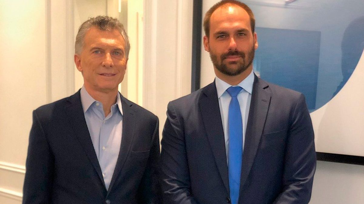 Mauricio Macri y Eduardo Bolsonaro