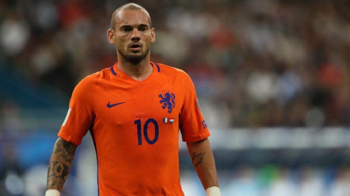 ¿Qué pasó Wesley? El sorprendente cambio físico de Sneijder a dos semanas de su retiro