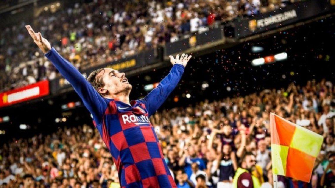 Antoine Griezmann brilló en su debut en La Liga con el Barcelona