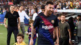 Mateo Messi y Lionel Messi