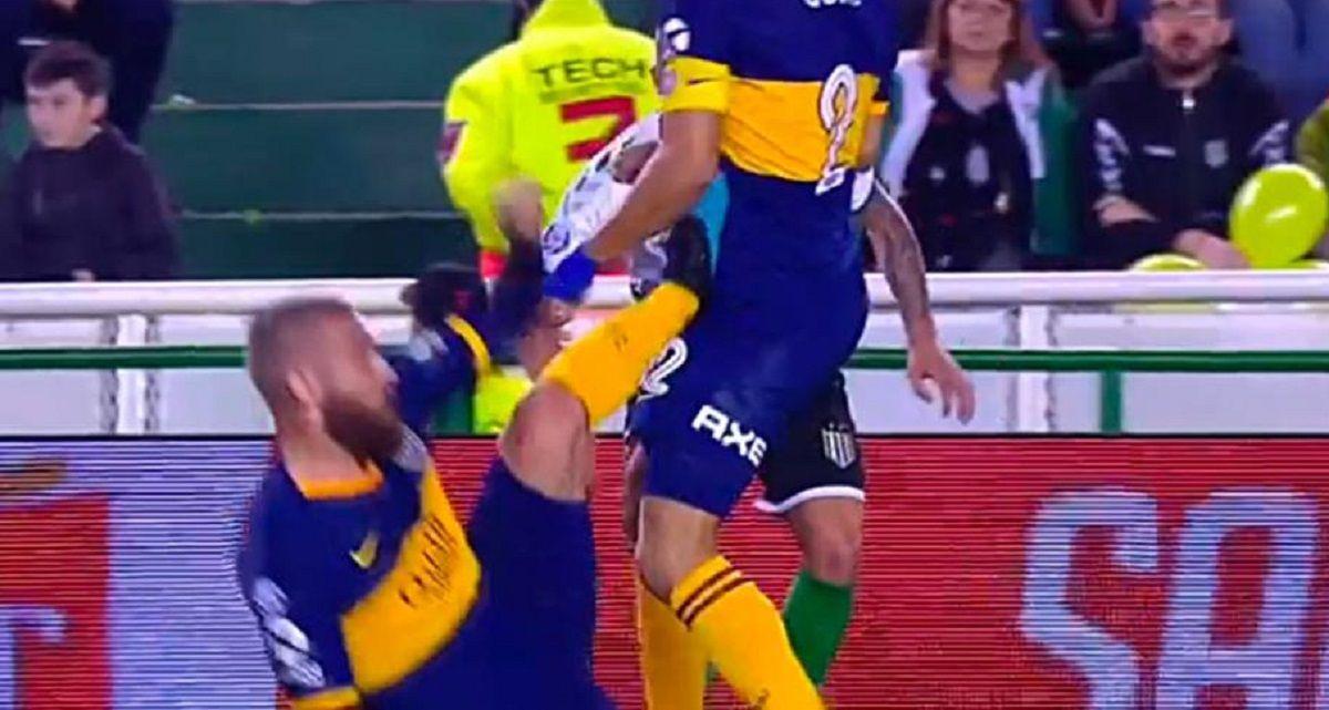 Daniele De Rossi le pegó a Goltz