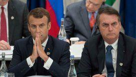 Macron le respondió a Bolsonaro: Espero que Brasil tenga un presidente que esté a la altura del cargo