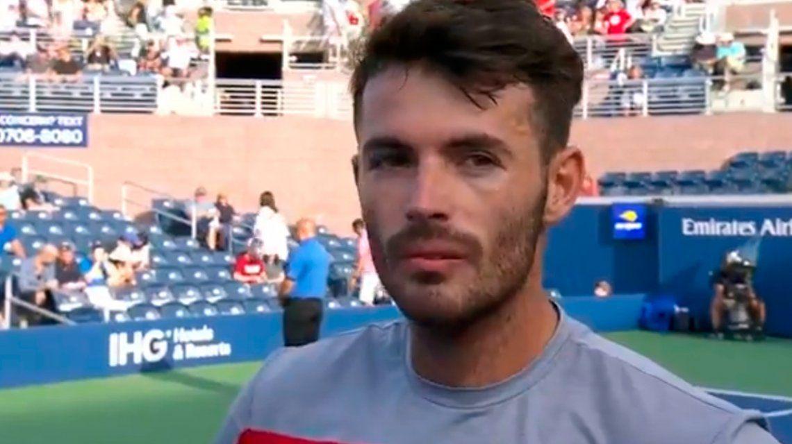 Londero ganó en su debut en el US Open y otra vez quiso hablar en inglés