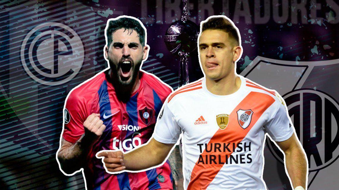 Cerro Porteño vs River por la vuelta de los cuartos de final de la Copa Libertadores: horario, formaciones y TV