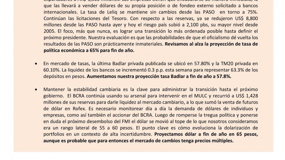 Un asesor de Macri pide varios tipos de dólar para fin de año