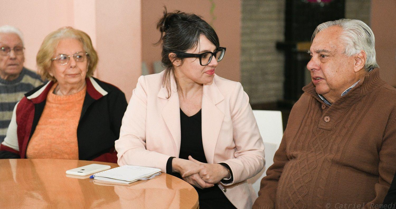 Marziotta se reunió con adultos mayores en el club social Gon