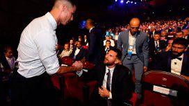 El encuentro más esperado: el saludo entre Messi y CR7 en Mónaco