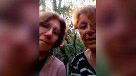 Dos jubiladas sobrevivieron dos días perdidas en la selva tucumana: el desopilante video que grabaron