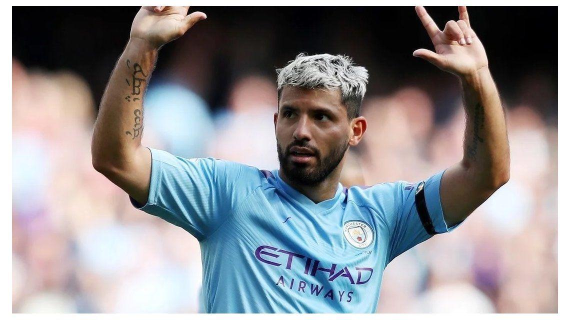 Con doblete de Agüero, el Manchester City goleó al Brighton