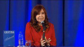 Cristina en la Facultad de Periodismo y Comunicación Social de La Plata