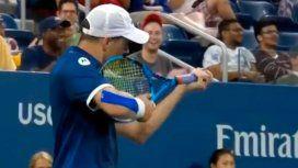 Un tenista hizo un gesto amenazante durante un partido del US Open y fue sancionado