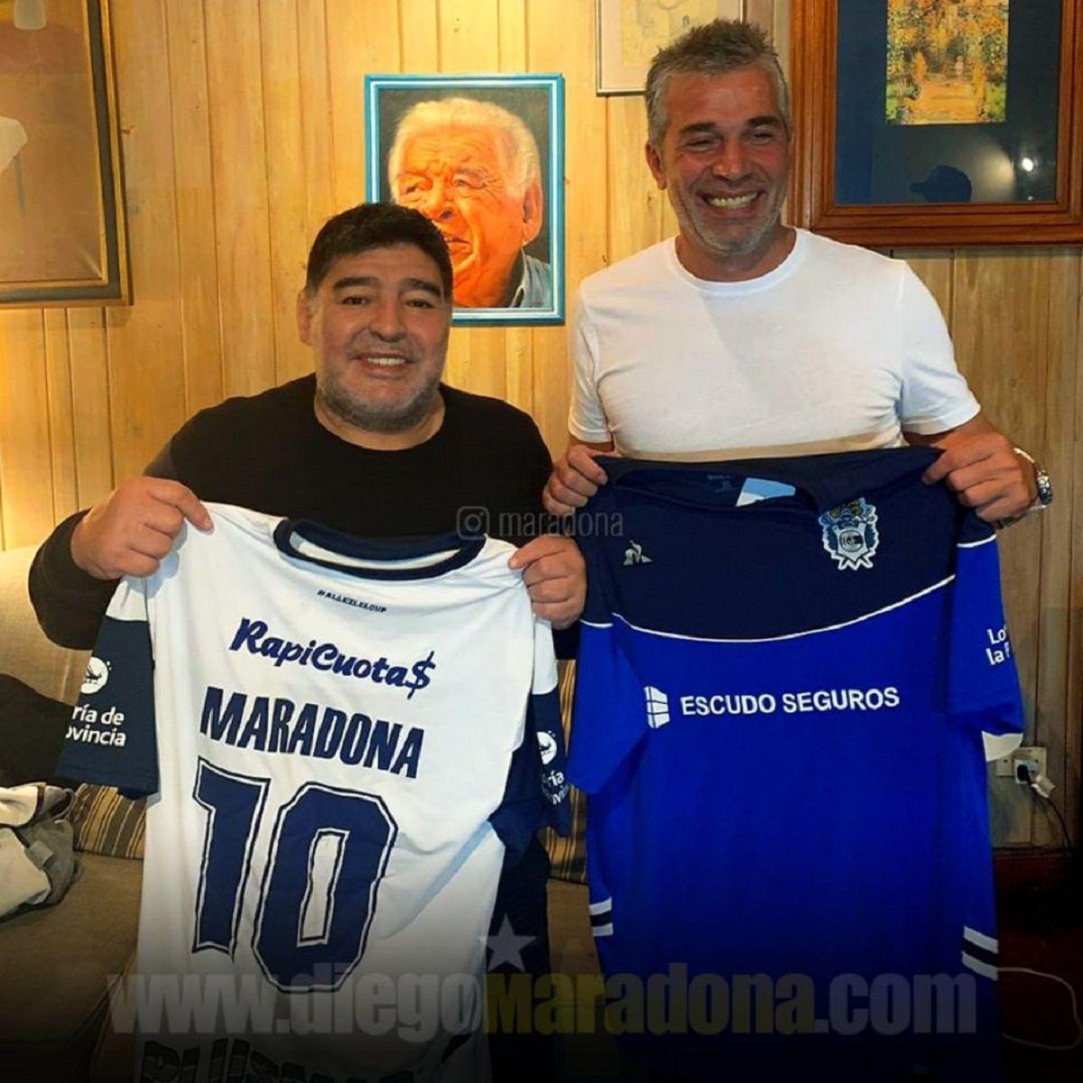 Diego Maradona y Pellegrino