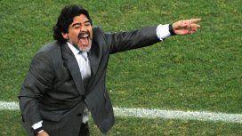 Diego Maradona en Sudáfrica 2010