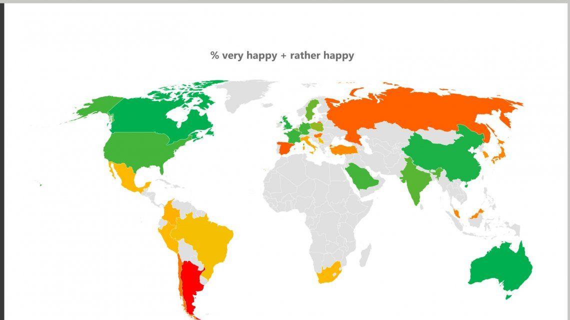 Argentina es el país más infeliz del mundo