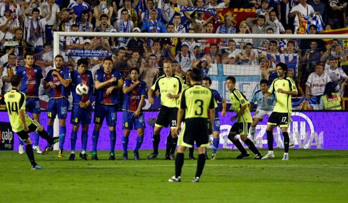 En 2011 el Zaragoza ganó 2 a 1 contra el Levante