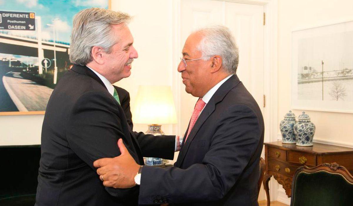 Alberto Fernandéz se reunió con el primer ministro de Portugal, Antonio Costa