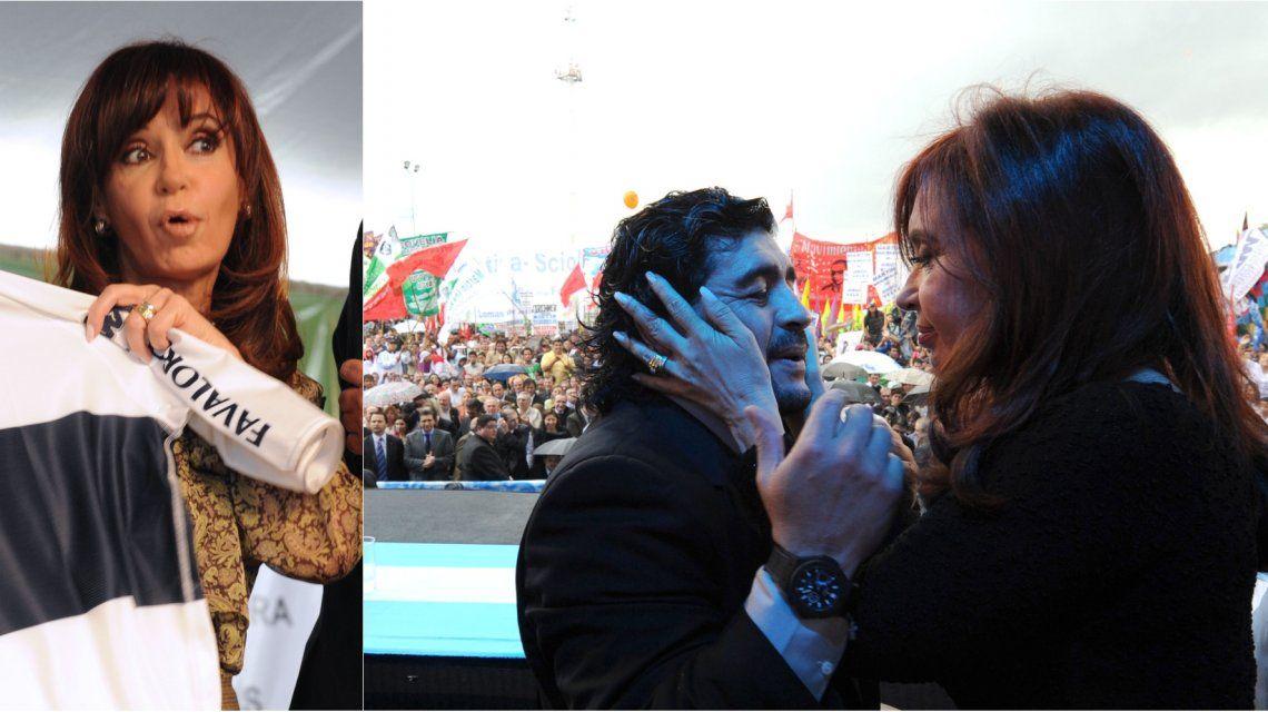 Cristina habló como hincha de la llegada de Diego Maradona a Gimnasia