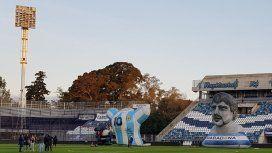 Así preparaban al estadio de Gimnasia para la presentación de Maradona