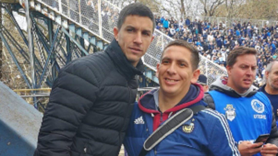 Lobo con piel de gallina: Nacho Fernández no se perdió la presentación de Maradona en Gimnasia