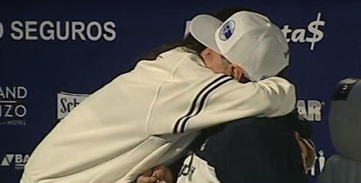 Maradona con Giselle Fernández