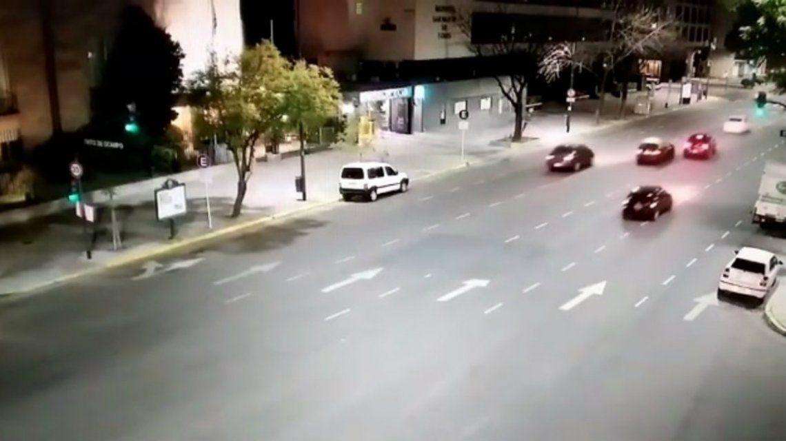 VIDEO: Así escapó Eugenio Veppo después de atropellar a dos agentes del tránsito
