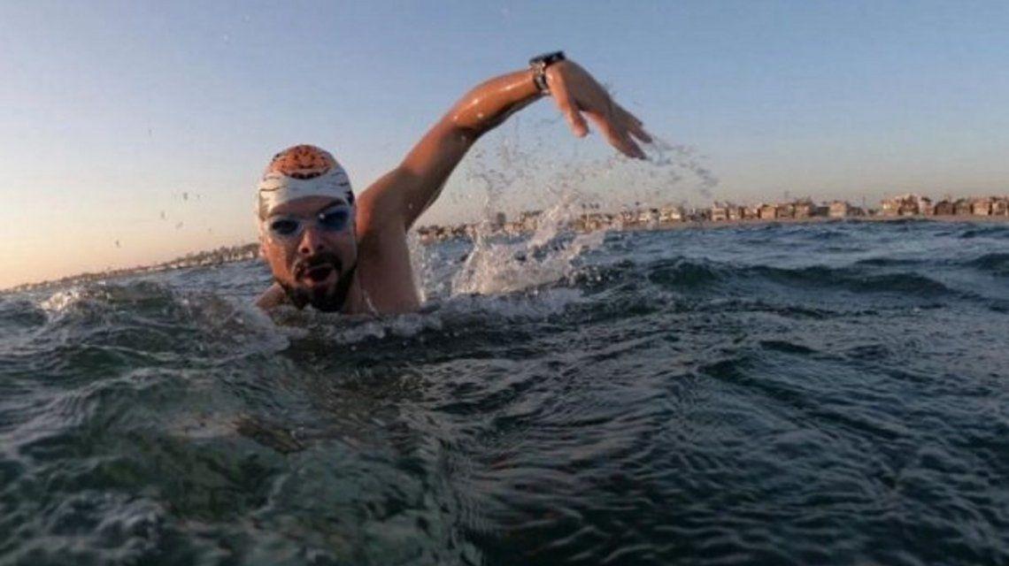 El argentino Matías Ola quiso cruzar el Canal de la Mancha y fue rescatado con hipotermia