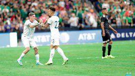 Con tres goles de Lautaro, Argentina goleó a México en un amistoso