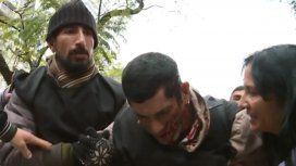 Incidentes entre los manifestantes y la policía en el acampe en 9 de Julio: heridos y un detenido