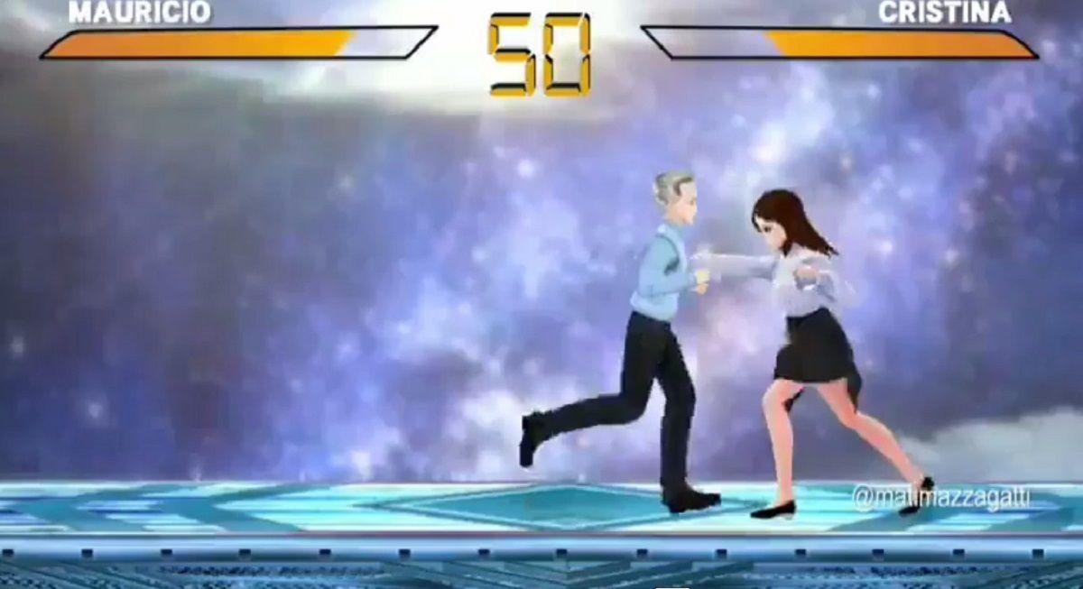 El desopilante videojuego que parodia un combate entre Macri y Cristina Kirchner