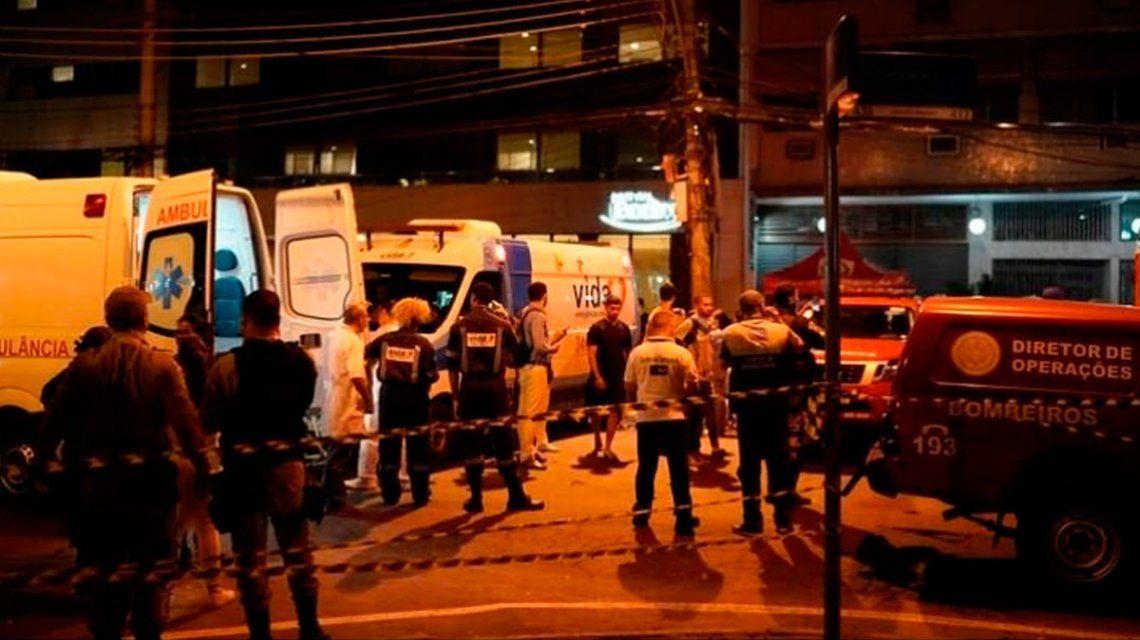 Incendio en un hospital de Rio de Janeiro: hay al menos once muertos