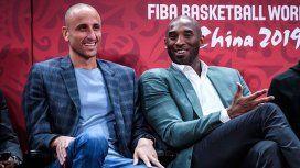 Hincha de lujo: Ginóbili alentó a la Selección en la tribuna junto a Kobe Bryant