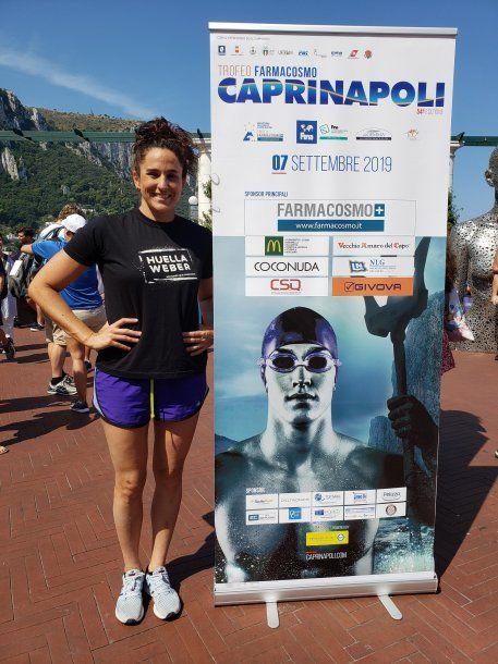 Pilar fue cuarta en la mítica carrera Capri-Nápoles y festejó en Italia