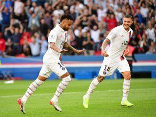 debut de icardi y golazo de neymar: el triunfo de psg ante estrasburgo